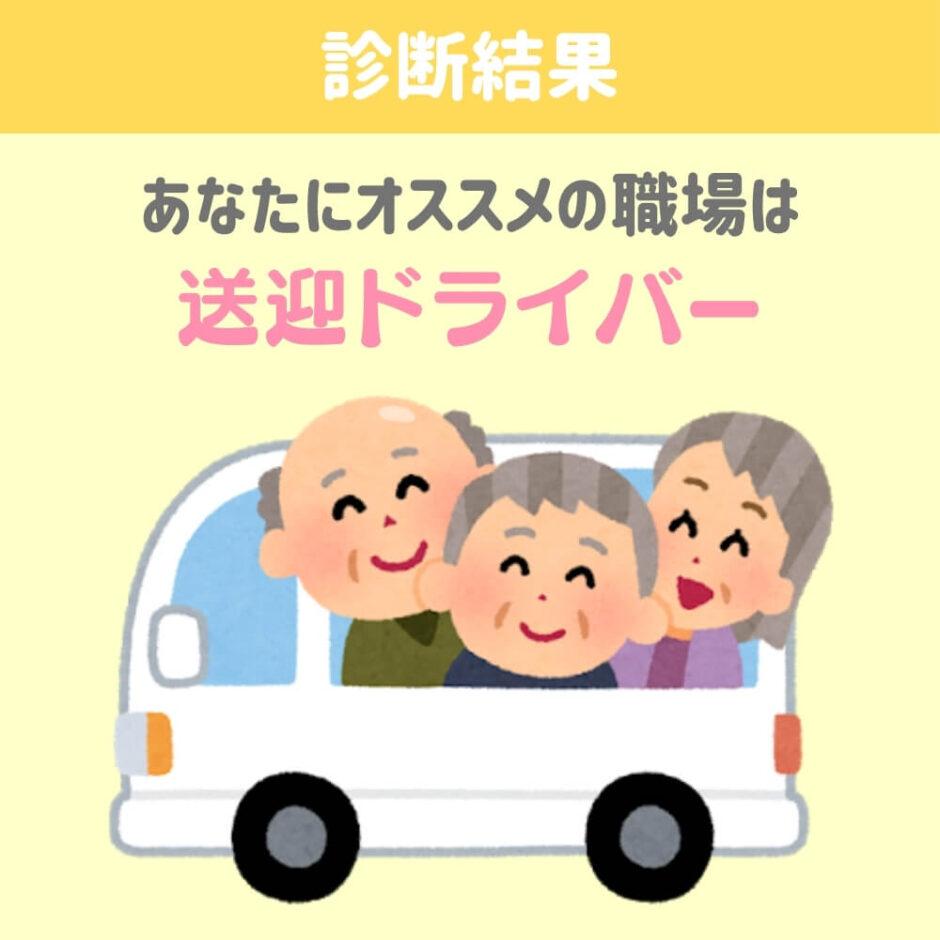 介護士の職場診断結果「送迎ドライバー」