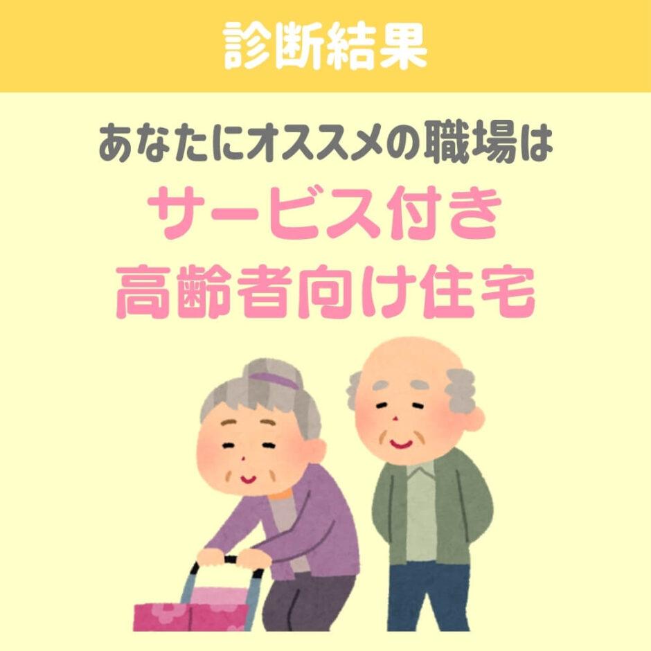 介護士の職場診断結果「サービス付き高齢者向け住宅」